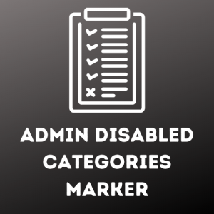 Admin Disabled Categories Marker