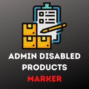 Admin Disabled Products Marker for OpenCart