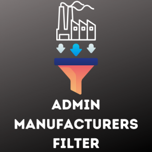 Simple admin manufacturers filter