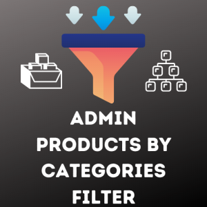 Admin products by category filter