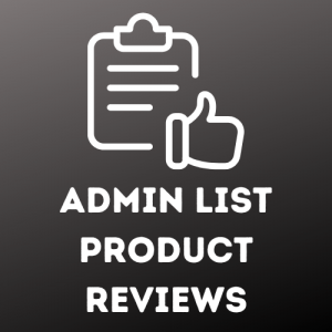Admin list product reviews
