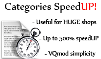 Categories SpeedUP for OpenCart